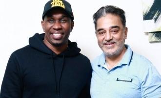 Dwayne Bravo's sudden meeting with Kamal Haasan