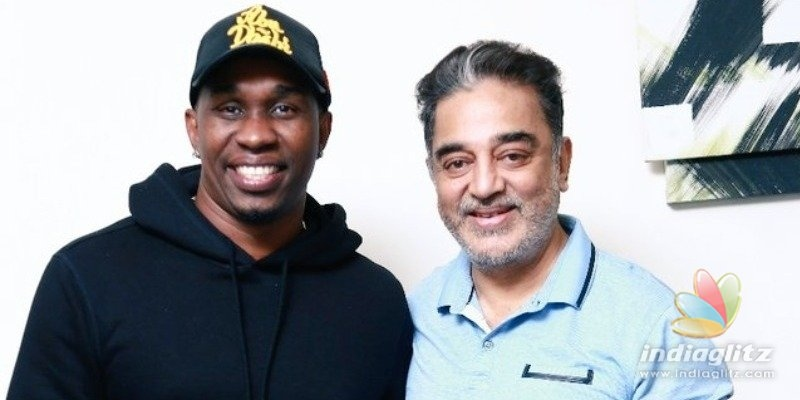 Dwayne Bravos sudden meeting with Kamal Haasan