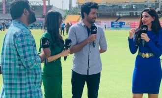 Sivakarthikeyan & Kalyani go live on India vs West Indies match in Chepauk Stadium