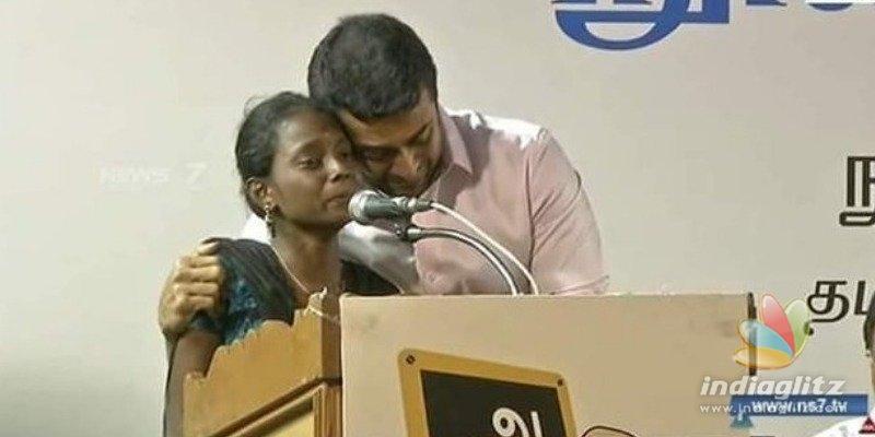 Suriya cries uncontrollably hearing girls tough life