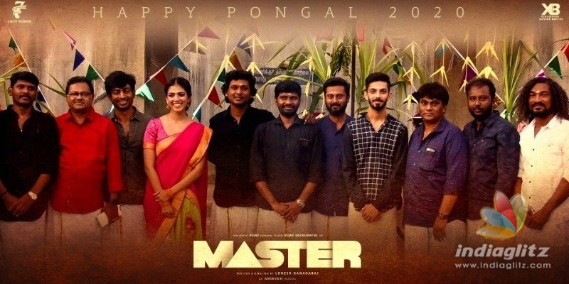 Master teams happy pongal wishes and team photo is here