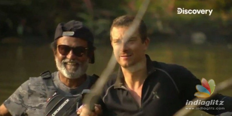 Superstar Rajinikanth exhibits mass in Into the Wilds with Bear Grylls teaser