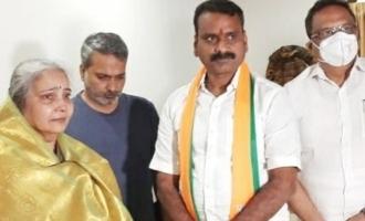 Kushboo and L Murugan meet SPB wife