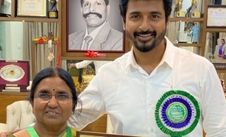 Siva Karthikeyan's emotional moment with mother - photos viral!