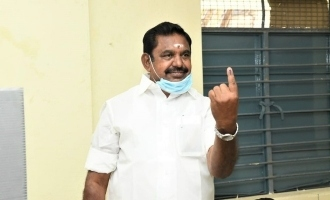 Edappadi who came with his family and voted