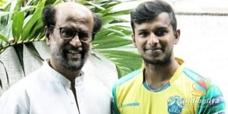 Sensational bowler Natarajans photo with Superstar Rajnikanth turns viral!