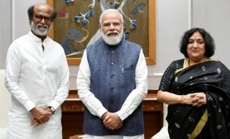 Superstar Rajinikanth meets President and PM ahead of Anaatthe release!