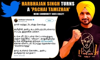 Harbhajan Singh turns a 'Pachai Tamizhan', meme community goes crazy!