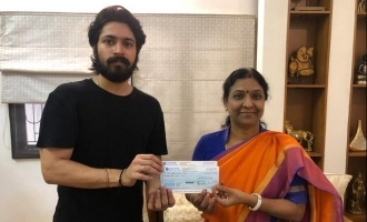 Harish Kalyan donates generously for abandoned cancer patients care