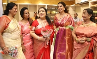 Celebrities at AA Guru Silks Shop Launch
