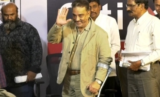Kamal Haasan walking on crutches causes concern among fans and followers