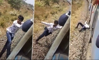 TikTok: Terrifying video of man falling off fast-moving train shocks people