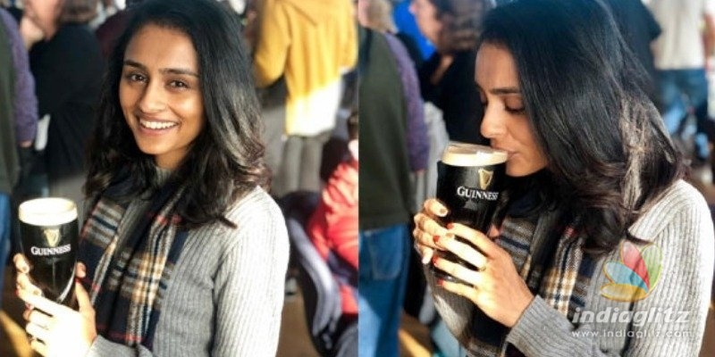 Pragathi Guruprasad shocks netizens with beer drinking photo
