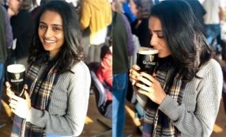 Pragathi Guruprasad shocks netizens with beer drinking photo