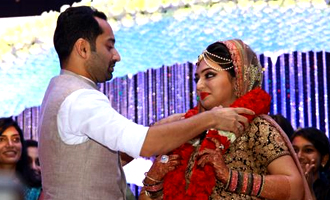 Fahadh Faasil and Nazriya Nazim exchange wedding vows