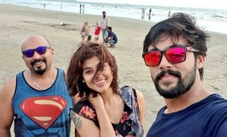 Oviya - Aarav's latest beach photo goes viral
