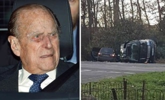 England's Prince Philip involved in a major car crash