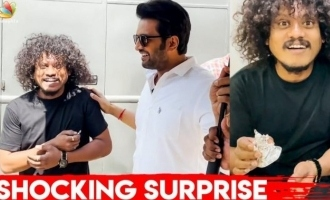 Santhanam's surprise gift to Cooku with Comali fame Pugazh