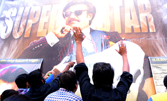 Fans celebrates Rajini Birthday and 'Lingaa' Release