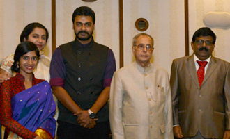 Pranab Mukherjee watches Special Screening of 'Ramanujan'