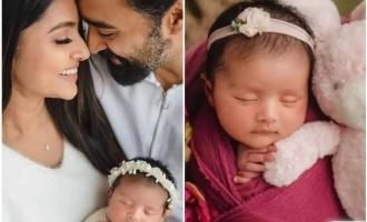 Sneha shares cute photos of baby girl on Prasanna's birthday!