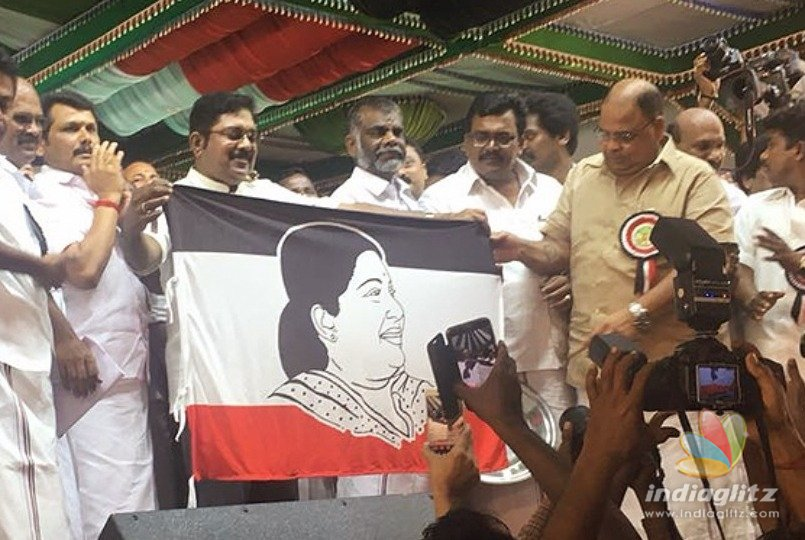 TTV Dhinakaran announces party name and flag