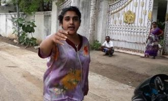 Actress Vanitha thrown out of her house