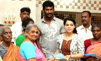 Vishal and Aishwarya at Mercy Home Kilpauk