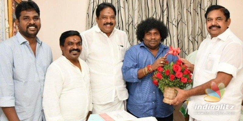 Yogi Babu meets Chief Minister Edappadi Pazhaniswamy
