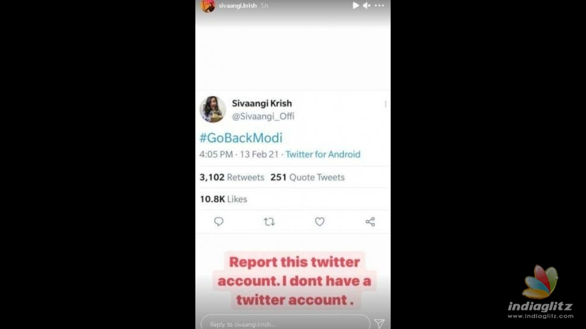 Cook with Comali Sivaangis important clarification on viral tweet!