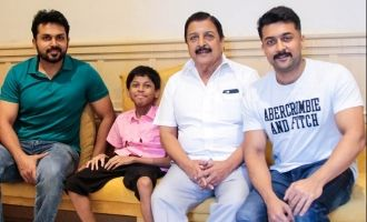 Suriya and his family met the special child KV Dinesh today