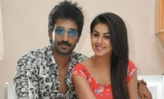 Nikki Galrani who was affected by COVID 19 spotted with actor Aadhi in airport