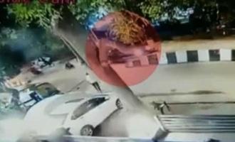 திடீரென கிளம்பிய இளம்பெண்ணின் BMW கார்: நாய்க்குட்டியால் ஏற்பட்ட விபத்து