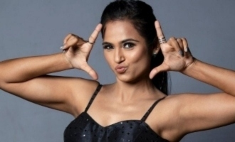 Ramya Pandian's latest photoshoot dressed in black is alluring