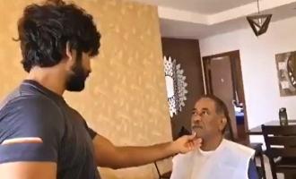 தந்தைக்கு முடிவெட்டி காசு வாங்கி கொண்ட தமிழ் திரைப்பட ஹீரோ