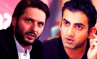 Gautham Gambir and Afridi said about kashmir issue