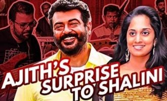 Ajith's Romantic Surprise to Shalini : Mani & Band Interview