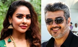 My Head on your feet Thala - Sri Reddy