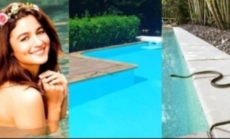 Actress shares video of snake inside her swimming pool