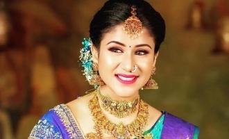 Alya Manasa dazzles in bridal makeup in latest photoshoot post child birth