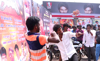 Dhanush Fans Celebrating 'Anegan' Movie Release