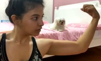 நடிகை அஞ்சலியின் வொர்க்-அவுட் பார்ட்னர்: வைரலாகும் வீடியோ