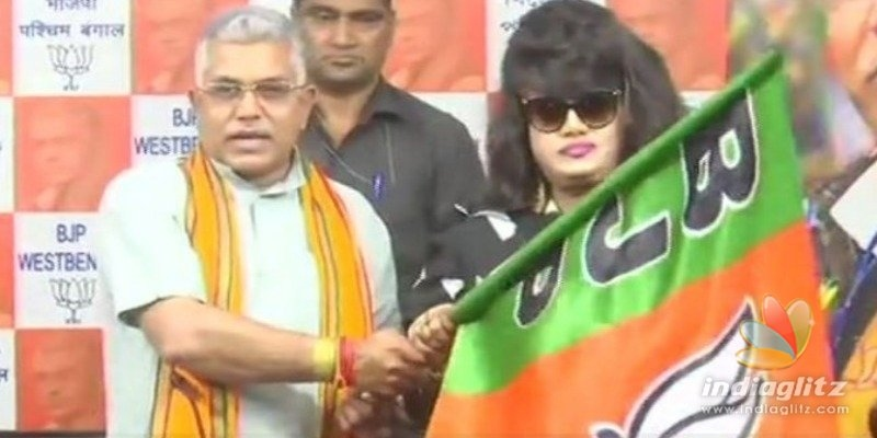 Foreign actress creates controversy for BJP