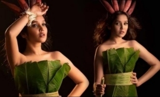 Anikha Surendran dressed in banana leaves blazing new photoshoot