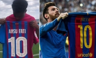 18-year-old football player to wear Messi's number 10 jersey at Barcelona