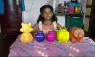 Inspiring! Little girl donates entire savings for Kerala floods