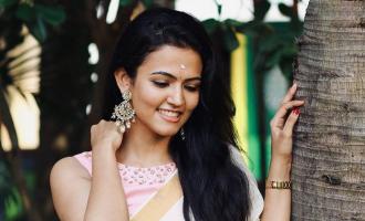 Vijay heroine Aparna Das kerala saree photos viral in internet