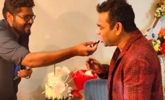 Cobra team celebrated AR Rahman birthday