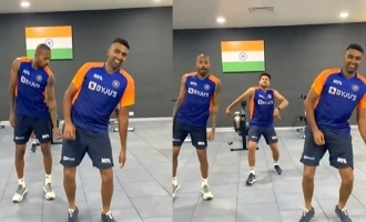 Ashwin, Hardik Pandya and Kuldeep Yadav's Vaathi dance video viral!