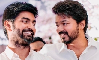 Atharvaa shares unseen all smiles pic with Thalapathy Vijay taken at special occasion